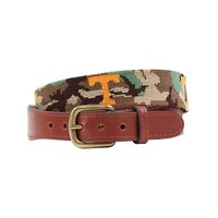 University of Tennessee Power T Camo Needlepoint Belt by Smathers & Branson