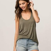 BOZZOLO Olive Womens Pocket Tank