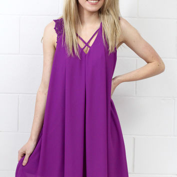 Little More Summertime Swing Dress {Magenta}