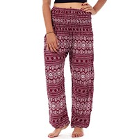 Red Tribal Diamond Harem Pants