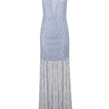 4d0cab7e67a Blue Lurex Lace Maxi Dress - Clothing - from Miss Selfridge