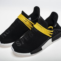 "Pharrell Williams x Adidas NMD Human Race ""Black"" BB3068 Real Boost"