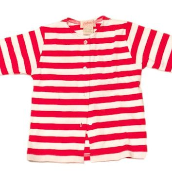 Zutano Red and White Stripe Cotton Baby Jacket