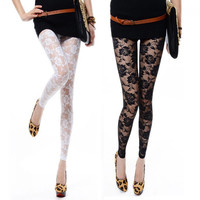 Sexy Women's Lace Leggings