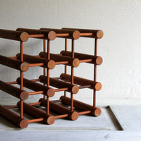 Mid-Century Danish Modern Wooden Wine Rack