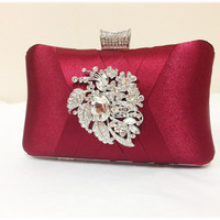 Wedding clutch, Bridal clutch, Red / Maroon clutch, evening bag, Modern clutch, bridesmaid bag, crystal clutch