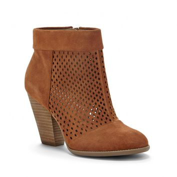 Sole Society Sidney Perforated Suede Ankle Bootie