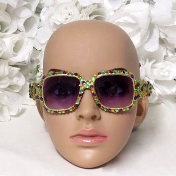 Mardi Gras - Mardi Gras Tiara - New Orleans - French Quarter - Sunglasses - Girls Headband - Adult Headband - Girls Birthday Gifts