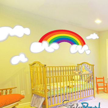 Graphic Wall Decal Sticker Rainbow Clouds #DCriswell103