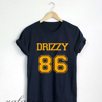 Drake Shirt Drizzy 86 Tshirt Navy Color Unisex Size - RT57
