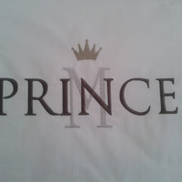 Personalized PRINCESS/PRINCE His and Hers initial, 2pc embroidered pillow cases,wedding gift
