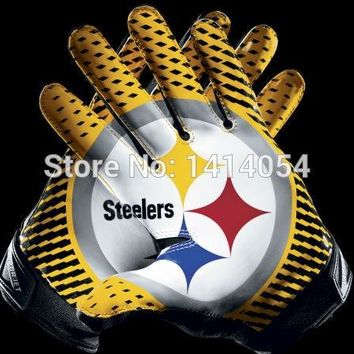 Pittsburgh Steelers gloves Flag 150X90CM Banner 100D Polyester3x5 FT flag brass grommets 001, free shipping