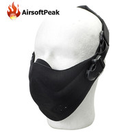 Men Army Tactical Mask Outdoor Dustproof Scarf Motorcycle Hunting Cycling Half Face Mask Hunting Mask Paintball Accessories