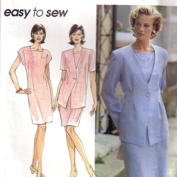 Vintage Simplicity 9899, Misses, Dress, Jacket, Size 12, 14, 16
