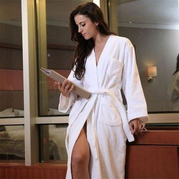 Robes For Women Satin Dressing Gown Women's Solid Color Full Sleeve Terry Cotton Sleep Lounge Robes Sexy Bath Robe Women