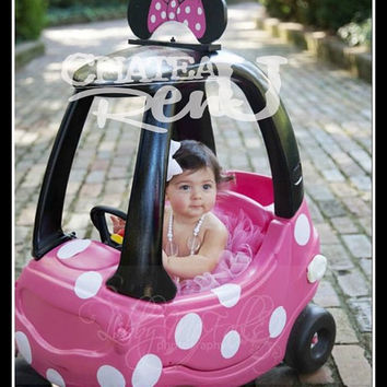 Girls Minnie Toy Ride In Car (Restyled Cozy Coupe)