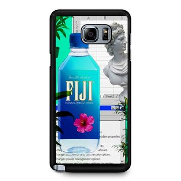 Fiji Water Vaporwave Samsung Galaxy Note 5 Case