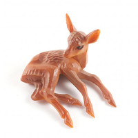 Vintage Deer Fawn Miniature Figurine Kitsch Mid Century Bambi / 50s 60s