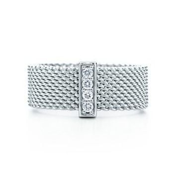 Tiffany & Co. -  Tiffany Somerset™ ring. Diamonds, sterling silver.