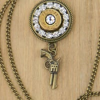 Bullet Jewelry, Bullet Necklace, 45 caliber, Ammo jewelry, Outlaw Glam