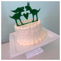 T-Rex Wedding Cake Topper - Dinosaurs in Love - Quirky Hipster Wedding Decor - Dino Love