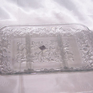 Vintage Princess House Fantasia Crystal Serving Platter