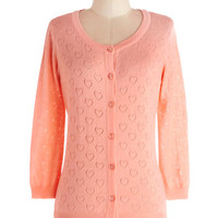 Less is Amour Cardigan in Peach