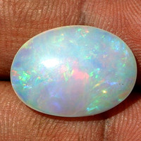 1Pc 8.20 Ctw Size 19x14mm AAA+++ Natural Multi Color Play Ethiopian Welo Opal Oval Cabochon Welo Opal Cab (535)