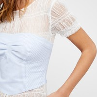 Free People Striped Out West Corset