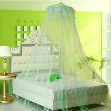 OCHINE Elegant Round Lace Insect Bed Canopy Netting Curtain Dome Mosquito Net Worldwide Thin Transparent Mosquito Net For Home