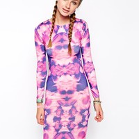 Jaded London Floral Body-Conscious Dress - Pink
