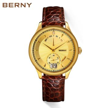 Men's 18K Gold Luxurious Swiss Movement Quartz Watch