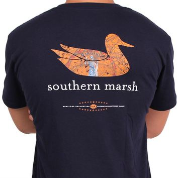 Authentic Virginia Heritage Tee in Navy by Southern Marsh