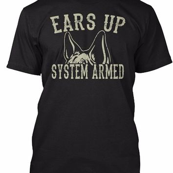 Ears Up System Armed - German Shepherd T-Shirt - Men's Tops