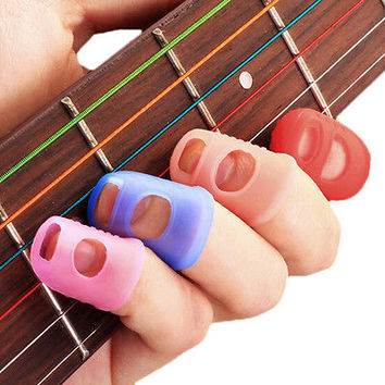 3 PCS New Mix Color Guitar Thumb Picks Finger Picks Plectrum Band HU