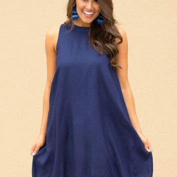 Cruz Dress in Navy | Monday Dress Boutique