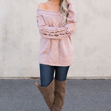 Maurice Knitted Sweater (Mauve)