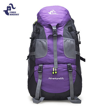 FREEKNIGHT 50L Outdoor Bag Camping Hiking Backpack Mountaineering Climbing Cycling Waterproof Backpack Molle Sport Bag