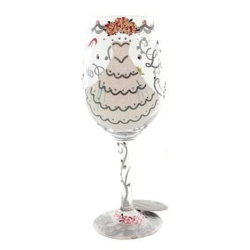 Tabletop BRIDE Glass Lolita Wine Glass Hand Painted 5522X