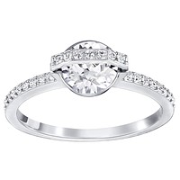 Swarovski Clear Crystal Engagement Solitaire with Accent RING FAVOR