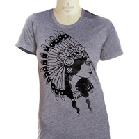 Womens INDIAN PRINCESS t shirt Native American (sm, med, lg, xl, xxl)