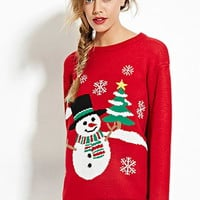 Snowman Graphic Sweater