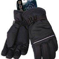 Tough Outdoors Winter Snow & Ski Gloves - Designed for Skiing, Snowboarding, Shredding, Shoveling & Snowballs - Waterproof, Windproof Thermal Shell & Synthetic Leather Palm - Fits Men & Women