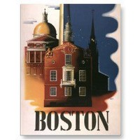 Vintage Travel Poster, Boston, Massachusetts Post Card