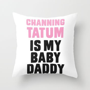 Channing Tatum Throw Pillow by LookHUMAN