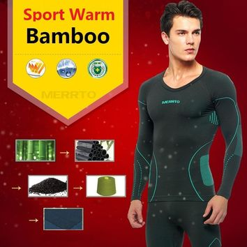 Free Shipping,Brand men's sets,New fitness winter warm Functional Thermal underwear.Bamboo long johns,