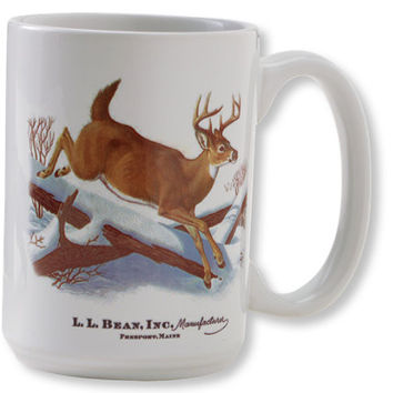Maine Inland Fisheries and Wildlife Ceramic Mug, White-Tailed Deer | Free Shipping at L.L.Bean