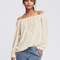 Banana Republic Womens Shirred Blouse