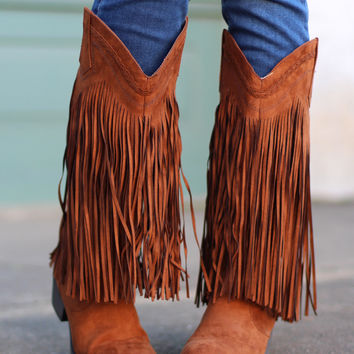 Sochi Fringe Cowgirl Boots {Rust} from The Fair Lady Boutique