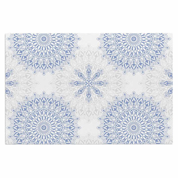 "Julia Grifol ""Mandalas In Blue"" Vector Geometric Decorative Door Mat"